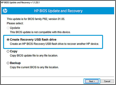 Hp laptops updating bios