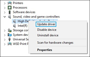 sound drivers windows 10 hp