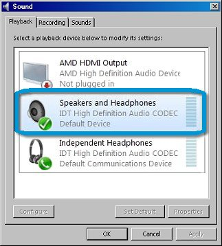 headphone speaker not working windows 10