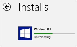 Barra de progreso de la instalación de Windows 8.1