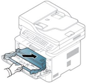 Image shows example of inserting the imaging unit