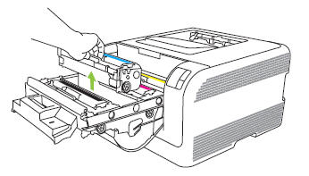 Illustration: Remove the print cartridge.
