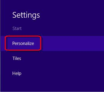 Personalize selection in Settings