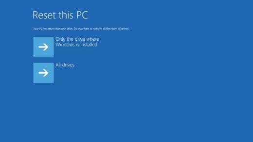 Elimine todos los archivos de la unidad donde está instalado Windows o de todas las unidades