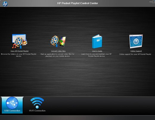 Image of the Pocket Playlist software - Control Center.