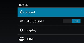 Sound in the Device section of Settings