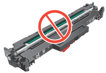 Do not touch drum roller surface