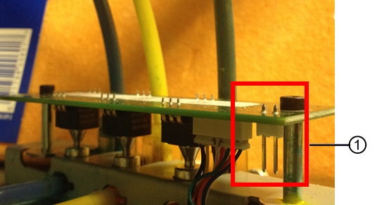 Identifying the ink pressure sensor board jumper pins