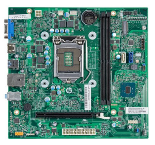Vista superior de la placa base Hamar