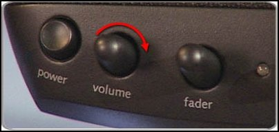 Volume control knob for speakers (your speakers might be different)