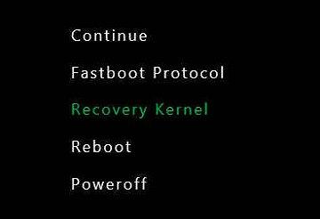 Kernel de recuperación