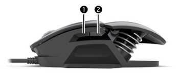 Pressing two buttons on the side of the mouse to activate the macro feature