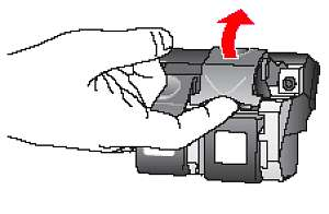 Illustration of releasing the cartridge latch