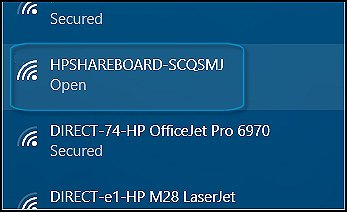 Finding the HPSHAREBOARD setup network