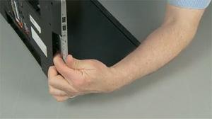 Pression sur le clavier