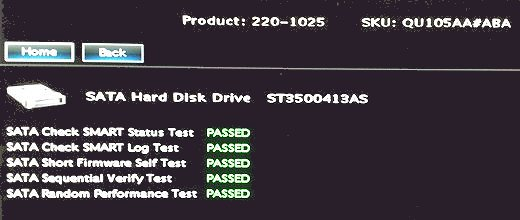 Hard drives test results