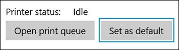 Clicking Set as default