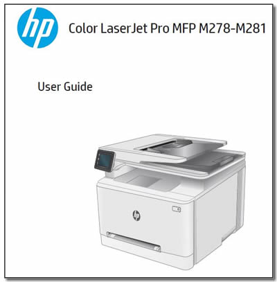 Example of a printer manual