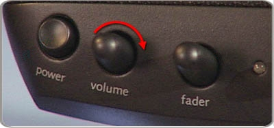 Volume control knob for speakers