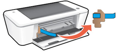 Image: Remove the packing materials from inside the printer