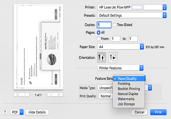 HP Printers - Print features do not work as expected or are