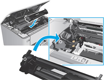 Reinsert the toner cartridge
