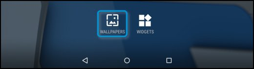 Wallpapers icon on the Home screen