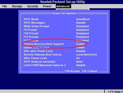 HP Compaq dc7800 and dc7900 Business PC - How to Enable or
