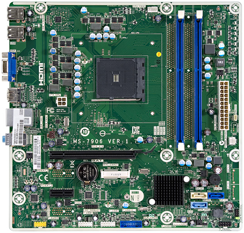 Orchid2-S motherboard top view
