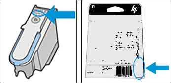 HP 11 Printhead warranty date location