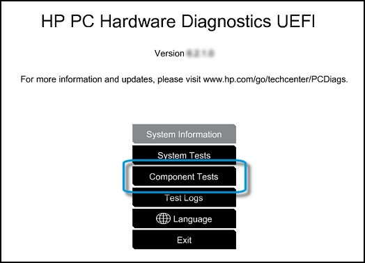 HP ENVY 23-d110fb TouchSmart Hardware Diagnostics UEFI Vista