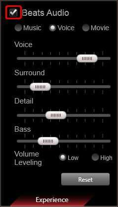 how to change settings on beatsx