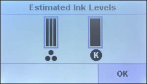 Image: Example of estimated ink levels.