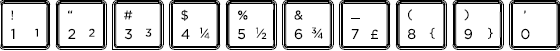 Dutch keyboard top row detail