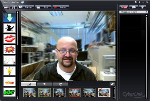 Image of the CyberLink YouCam window