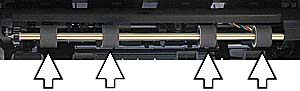 Illustration of the paper feed rollers