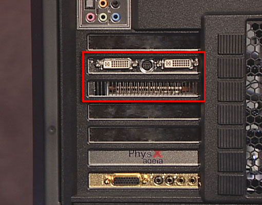 Illustration Showing Graphics Card Locations
