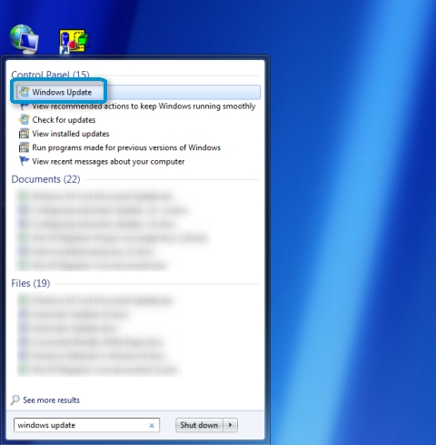 turn off automatic software updates windows 7