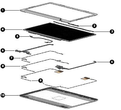 L14338-001 DISPLAY PANEL CABLE For use only on computer models equipped with a n