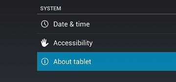 About tablet