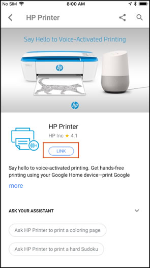 Linking the printer
