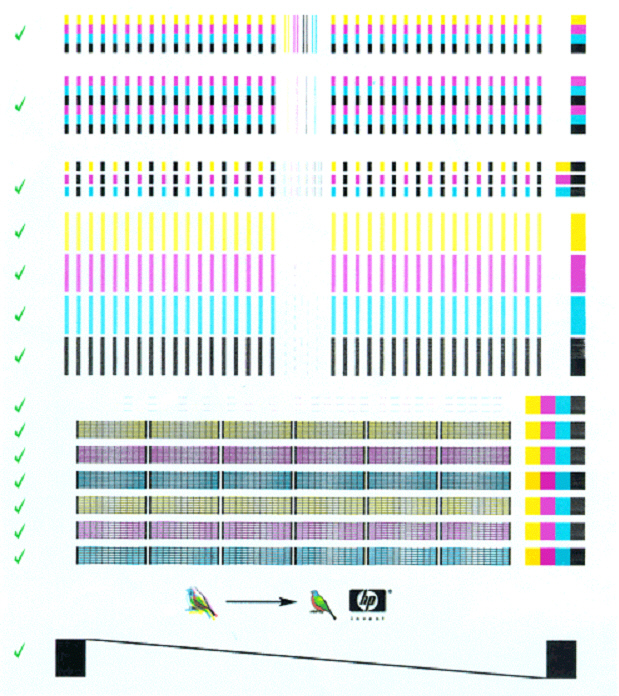hp color inkjet printer cp1700 - internal tests | hp® customer support - Color Test Page Inkjet Printer