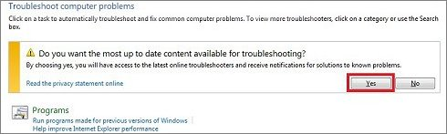 Do you want the most up to date troubleshooting window