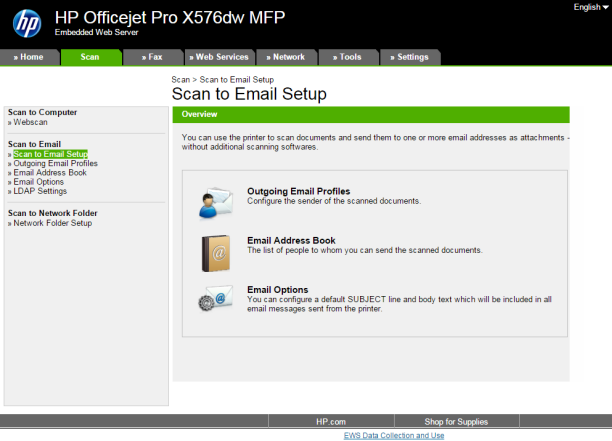 HP OfficeJet Pro X series - HP Embedded Web Server (EWS) firmware