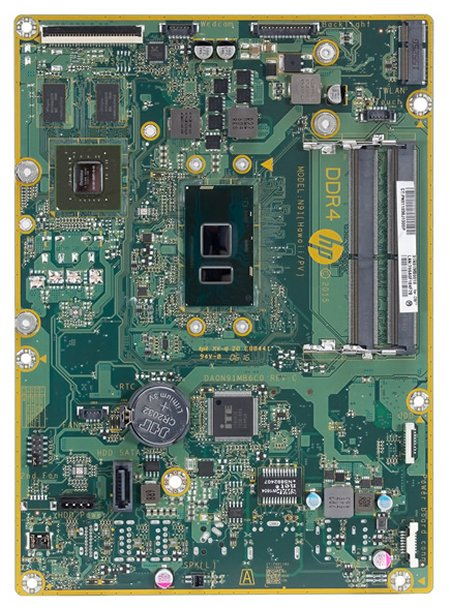Hawaii-K2G motherboard top view