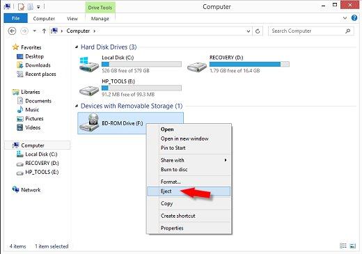 HP Desktop PCs - Opening a Stuck CD or DVD Drive Tray