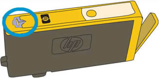 Image: Vent area on the top of the cartridge.