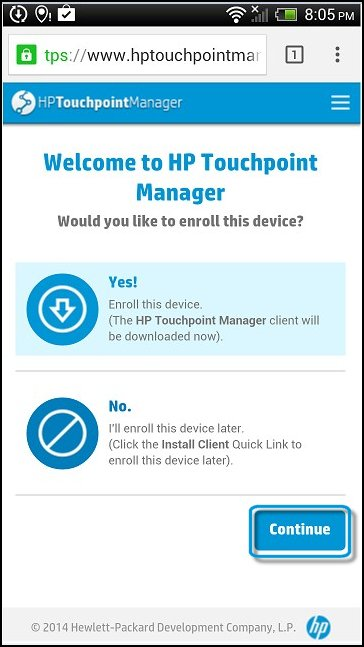 HP Touchpoint Manager - Downloading and Installing the HP Touchpoint
