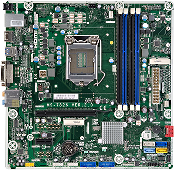 Kaili2 motherboard top view