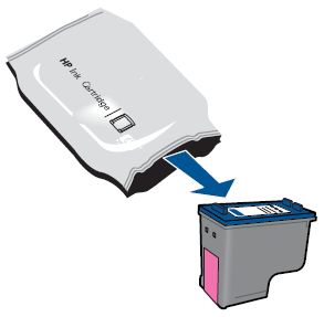Illustration of removing the cartridge from its packaging